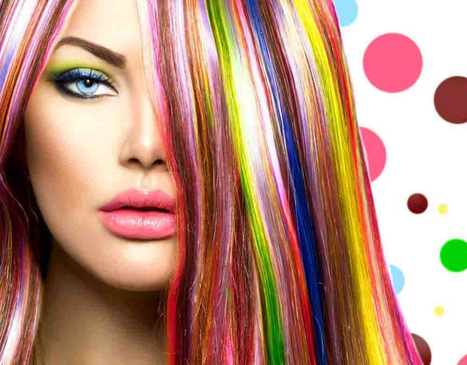 رنگ کردن پس از دکلره مو